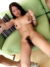 Satomi Suzuki Asian sucks dicks and rides them before doggy fuck
